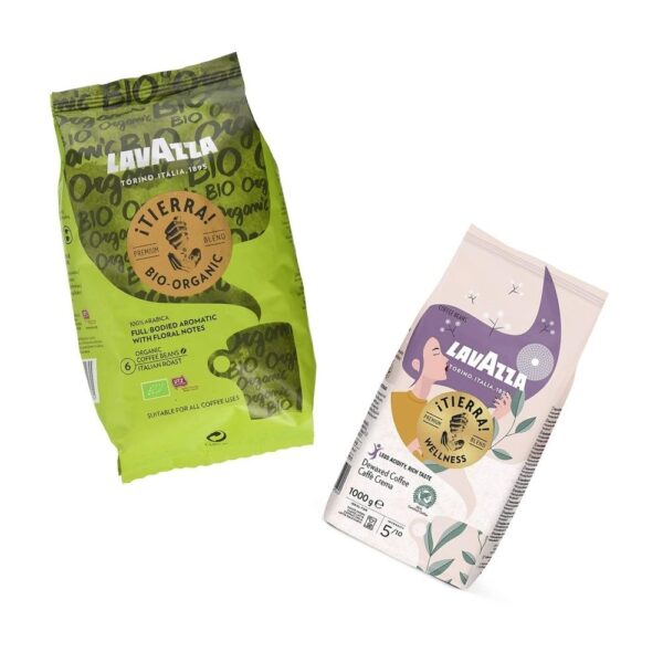 1KG Italienischen Bio & Fair Trade Kaffee von Lavazza in verschiedenen Stärken Online kaufen