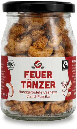 Fairfood Cashew Feuertaenzer Chili Paprika Geschmack